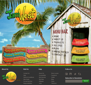 carribean style ecommerce site