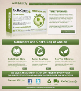 green web graphic design one product page checkout